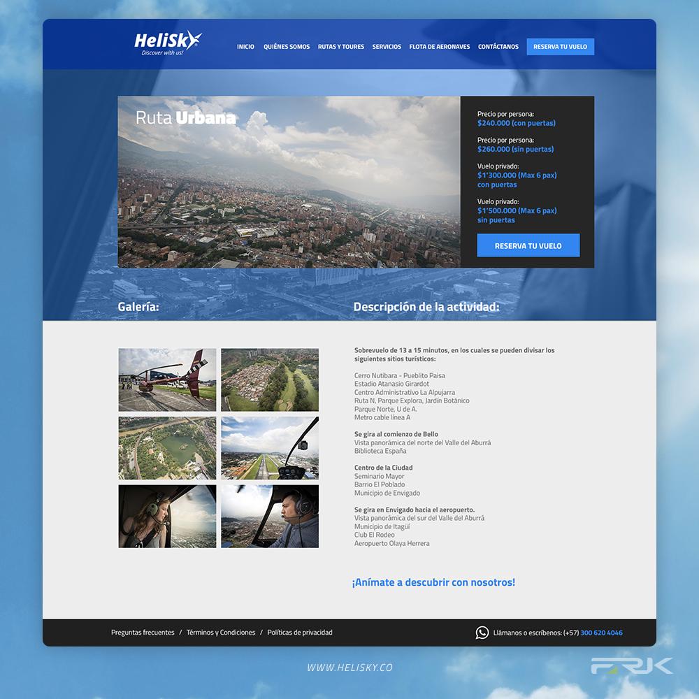 helisky fraktal diseño web
